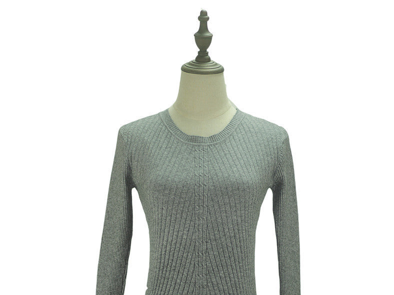 grey / One SizeColorful Apparel Womens Autumn Winter Cashmere Blended Sweater O-Neck Pullovers Long Sleeve Jumpers Women's Knitted Sweaters