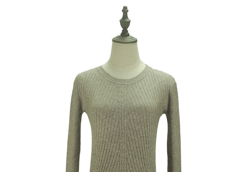khaki / One SizeColorful Apparel Womens Autumn Winter Cashmere Blended Sweater O-Neck Pullovers Long Sleeve Jumpers Women's Knitted Sweaters