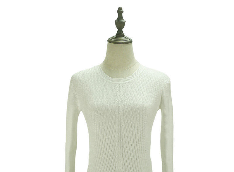 white / One SizeColorful Apparel Womens Autumn Winter Cashmere Blended Sweater O-Neck Pullovers Long Sleeve Jumpers Women's Knitted Sweaters