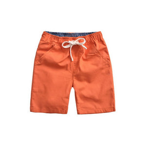 Boys Summer Solid Flax Sport Shorts Kids Cotton Beach Shorts Children Casual Trouser Infantil Brand , LC172 - CelebritystyleFashion.com.au online clothing shop australia