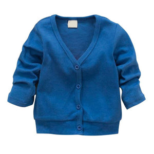 Child Boys Girls V-neck Cardigan Thick Cotton Jacket Coat Casual Comfortable - CelebritystyleFashion.com.au online clothing shop australia