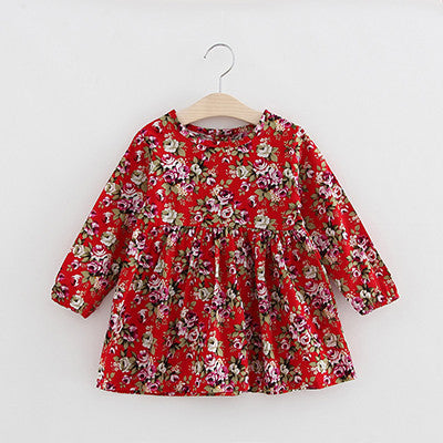 c6d9382751c5 Autumn Long Sleeve Girl Dress Spring New Casual Style Baby Girl Dresses  Girls Clothes Summer Dress