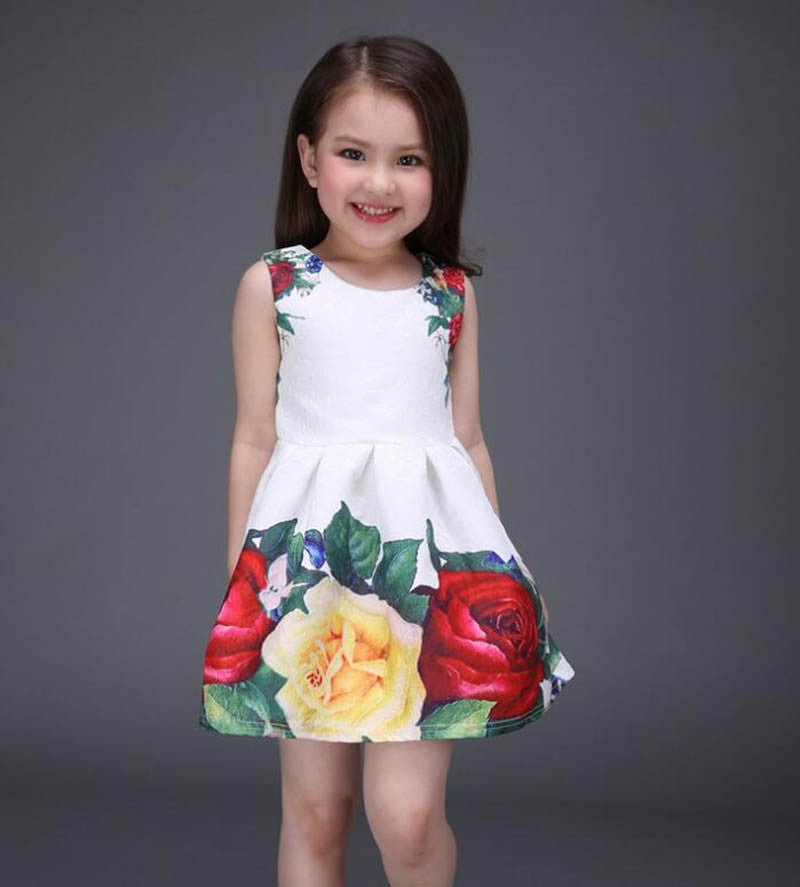 f2e61465dfda new summer girls dress white designer brand new children clothing rose  flower princess wedding party Lace