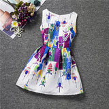 New Baby Girls Full Butterfly Print Dress 6 to 12 Years Kids Sundress for Girls Clothing Summer - CelebritystyleFashion.com.au online clothing shop australia