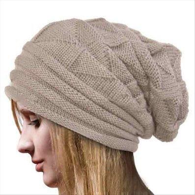 Fold Flanging Snowboard Skiing Skating Warm Knitted Cap Beanies Snap Slouch Skullies Bonnet Beanie Hat Gorro For Men Women - CelebritystyleFashion.com.au online clothing shop australia