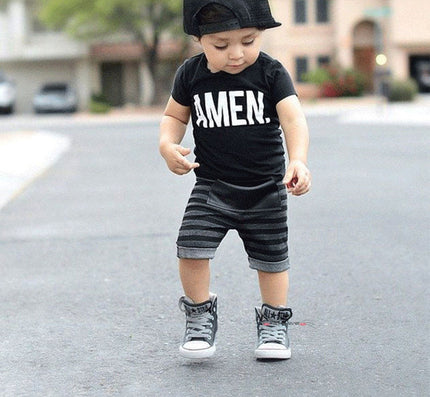 Kids Clothing Sets Short sleeve T-Shirt + Pants, summer Children's Sports Suit Boys Clothes Free Shipping INS toddler boy - CelebritystyleFashion.com.au online clothing shop australia