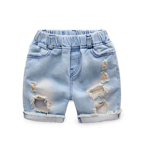 9a7524c151a Summer Boys Ripped Denim Shorts Boys Jeans Panties New Jeans Shorts for  Children 24M-8T