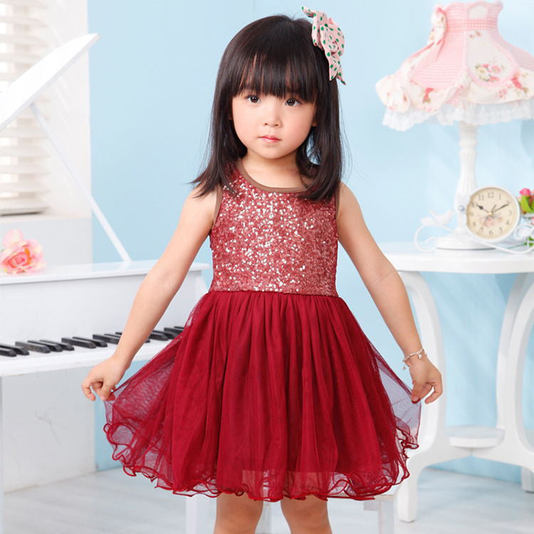 A182H / 3TBaby Girl Christmas Dress New Sequin Princess Tutu Dresses For Girls Kids baby Clothing Baptism dress,vestidos infantis