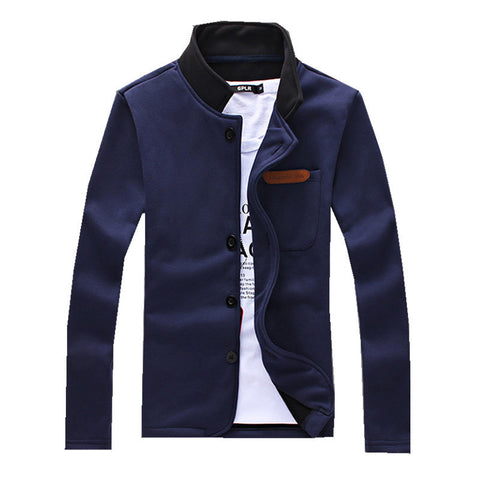 European style simple men's Hoody Mens single breasted leisure Sweatshirts - CelebritystyleFashion.com.au online clothing shop australia