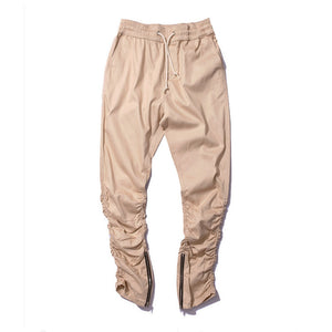 Justin bieber brand style side zipper men slim fit casual mens hip hop jogger biker pants swag sweatpants skinny trousers olive - CelebritystyleFashion.com.au online clothing shop australia