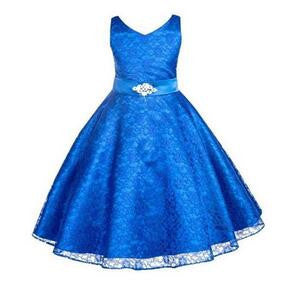 Girls party wear clothing for children summer sleeveless lace princess wedding dress girls teenage well party prom dress - CelebritystyleFashion.com.au online clothing shop australia