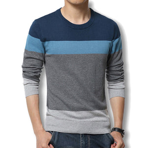 Men Pullover Casual Autumn Men's Sweater Slim Fit Brand Fashion Pullover O Neck Sweater Plus Size Best Quality - CelebritystyleFashion.com.au online clothing shop australia
