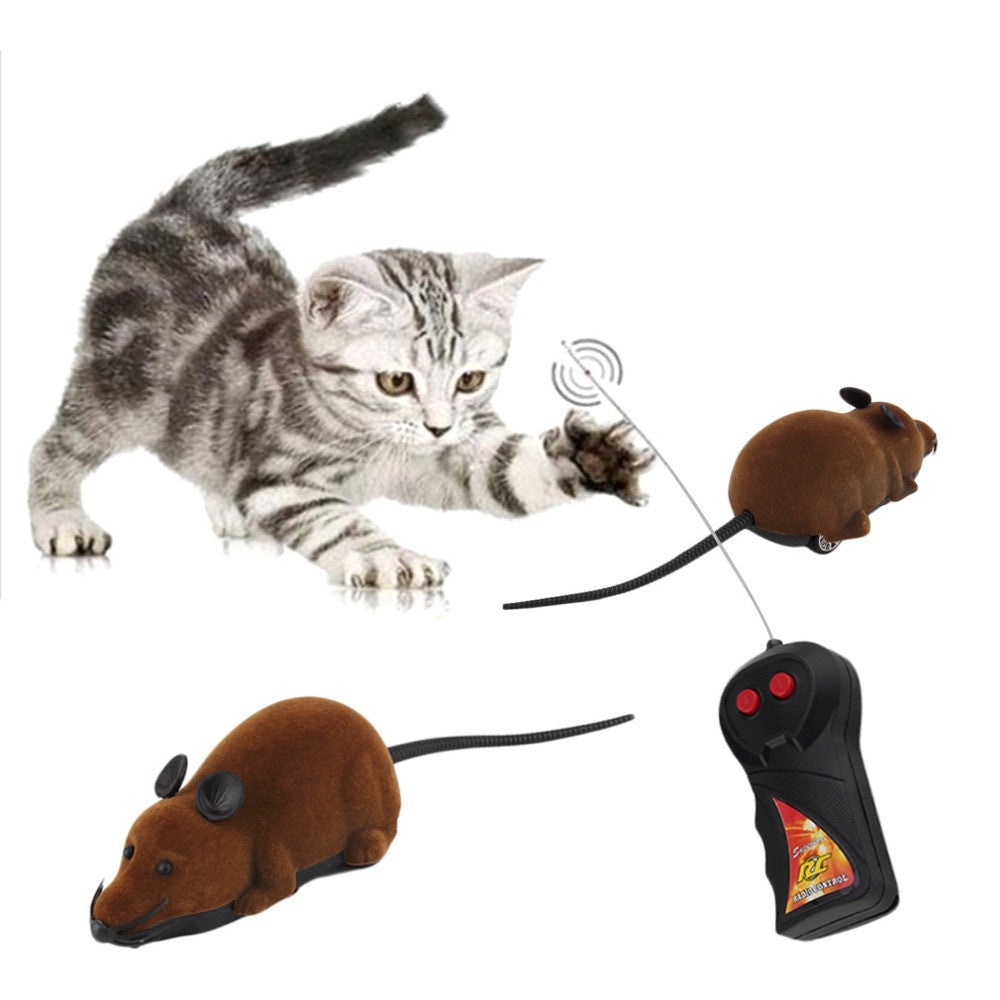 YellowRemote Control Simulation Plush Mouse Mice Kids Toys Gift for Cat Dog