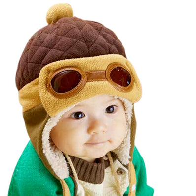 Toddlers Cool Baby Boy Girl Kids Infant Winter Pilot Warm Cap Bomber Hat - CelebritystyleFashion.com.au online clothing shop australia