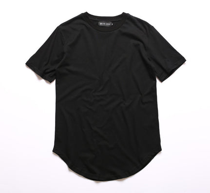 Mens big tall Clothing designer citi trends Clothes Hip Hop T shirt homme Curved hem Tee plain white Extended T shirt Kpop - CelebritystyleFashion.com.au online clothing shop australia