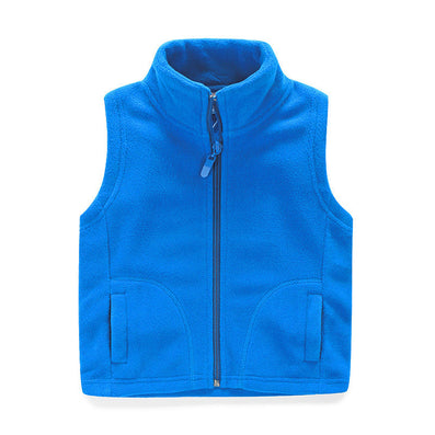 thicken winter cotton vest turtleneck solid fashion baby fleece vest kids waistcoat boys girls fleece jacket - CelebritystyleFashion.com.au online clothing shop australia