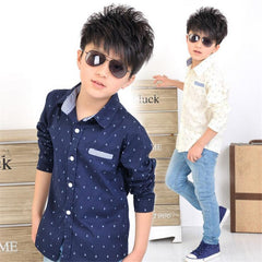Spring Children kids fashion Print Anchors shirts , boys cotton shirts , boys tops clothing shirts - CelebritystyleFashion.com.au online clothing shop australia