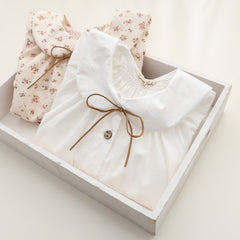 spring Girls long sleeve cotton White girl blouses child cute turn-down collar shirt tops School shirts Kids Girl Blouse - CelebritystyleFashion.com.au online clothing shop australia