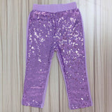 Girls Sequin Pants Rose Gold Sequin leggings Sparkle Pants Glitter leggings girl's sequin bottoms - CelebritystyleFashion.com.au online clothing shop australia