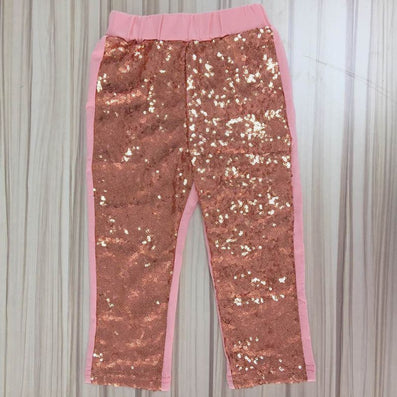 e6bb79e2e4 Girls Sequin Pants Rose Gold Sequin leggings Sparkle Pants Glitter leggings  girl's sequin bottoms