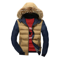 New Men's Hoodies Down Jacket Brand Clothing Winter Warm Thickening Cotton-Padded Parka Down Coat Outwear Jacket Y1945 - CelebritystyleFashion.com.au online clothing shop australia