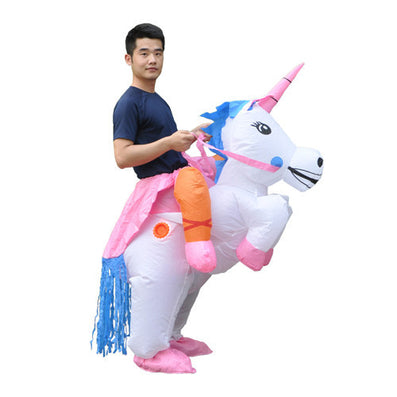 1389f7e76ef8 Inflatable Unicorn Costumes Inflatable Princess Outfit Suit Party Fancy  Dress Halloween Purim Costume for Kids Women