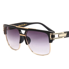 men sunglasses brand design big square semi rimless sun glasses men luxury unisex UV occhiali da sole - CelebritystyleFashion.com.au online clothing shop australia