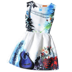 kids Dress Girl Dress Summer Style Sleeveless Printed Kids Dresses Girls Clothes Party Princess Dress Vestidos christmas - CelebritystyleFashion.com.au online clothing shop australia