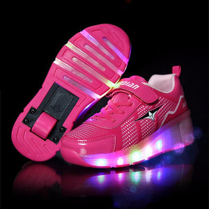 Children Roller Sneaker With One Wheel LED Lighted Flashing Roller Skates Kids Boy Girl Shoes - CelebritystyleFashion.com.au online clothing shop australia