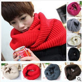 fashion winter warm Ring scarf lic Women Wool shawl Neck solid Wrap thicken Unisex Knitted scarves female pink sq306 - CelebritystyleFashion.com.au online clothing shop australia