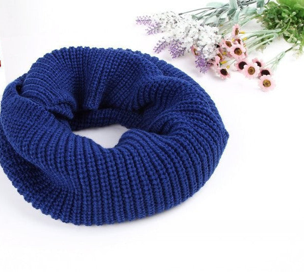 Bluefashion winter warm Ring scarf lic Women Wool shawl Neck solid Wrap thicken Unisex Knitted scarves female pink sq306