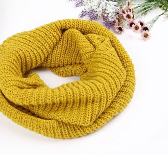Goldfashion winter warm Ring scarf lic Women Wool shawl Neck solid Wrap thicken Unisex Knitted scarves female pink sq306