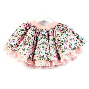 Children Kids Girls Floral Lace Tutu Skirts Baby Flower Princess Party Mini Skirt - CelebritystyleFashion.com.au online clothing shop australia