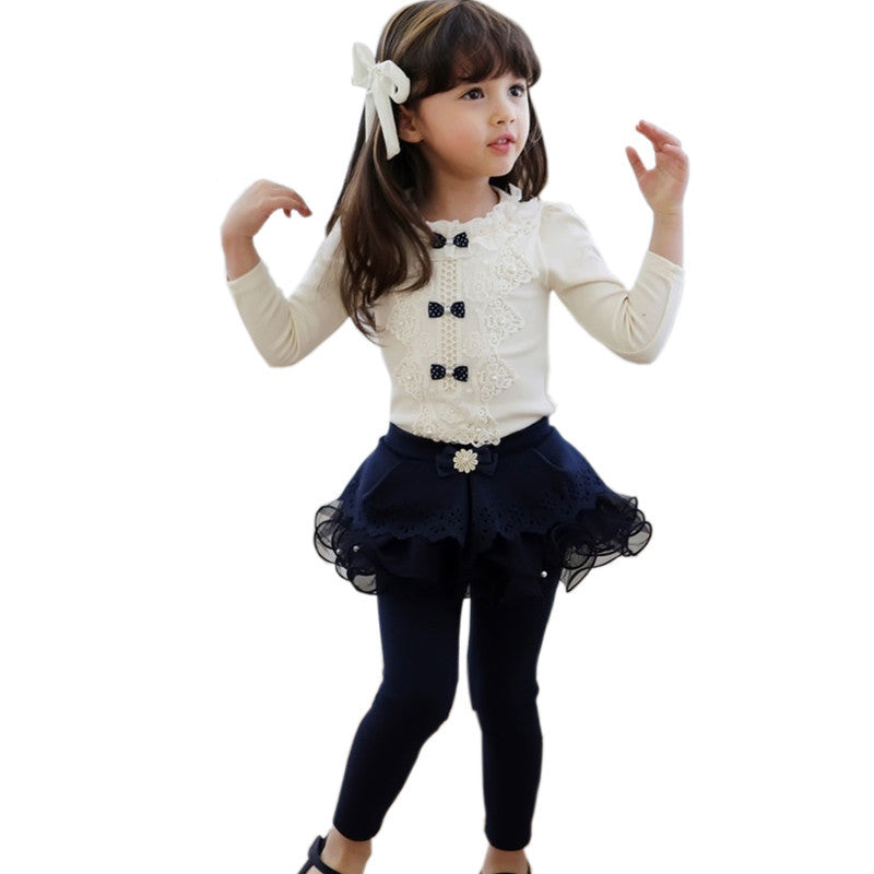 White / 2TAutumn Kids Children Shirts Solid Cotton Long Sleeve Bow Girl shirts all for kids clothes and accessories Girl Blouse 2-10y