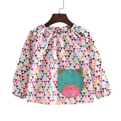 New 2-8Y spring summer girls clothes casual long sleeve girls blouses fashion cat style little child shirts for girls - CelebritystyleFashion.com.au online clothing shop australia