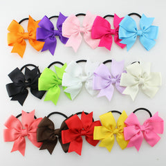 15pcs/lot New Fashion Girl Ribbon Bow Hair Rope hair ring hair Accessories Elastic Bow Hair Tie Rope - CelebritystyleFashion.com.au online clothing shop australia