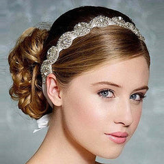 Girls princess rhinestone headbands sale Beautiful Crystal lady hair accessories Wedding jewelry headwear ribbon 1pc HB423 - CelebritystyleFashion.com.au online clothing shop australia