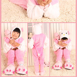 20 Style 2-11Y Girls Boys Winter Children Flannel Animal pajamas Kid Clothes Cute pyjamas Hooded Romper Sleepwear Without Shoes - CelebritystyleFashion.com.au online clothing shop australia