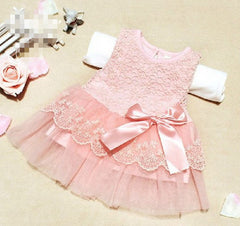 Cute Infant Baby Outfits Kids Children Lace Voile Wedding Party Dresses Girls Clothes - CelebritystyleFashion.com.au online clothing shop australia