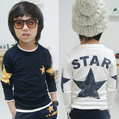 Kids Boy Toddler Baby Shirts Star Pattern Long Sleeve Tops T-shirt Spring Clothing - CelebritystyleFashion.com.au online clothing shop australia