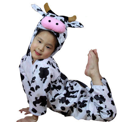 Cow / 4T24 Styles Animal Disfraces Cosplay Sets Halloween Costumes For Kids Children's Christmas Clothing Boys Girls clothes 2T-9Y