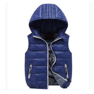Child Vest Waistcoat Hooded Bebe Vest Outwear Infant Vest Coat Girls Boys Down Winter Vest Baby Sleeveless Jacket for Kid - CelebritystyleFashion.com.au online clothing shop australia