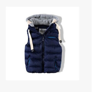 Kids Children Thickened Thermal Vest Boy Baby With A Removable Cap Cotton Vest,Fashion Vestatst0008, - CelebritystyleFashion.com.au online clothing shop australia