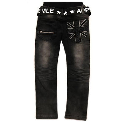 Spring New boys pants black color with white print hight quality boys kids jeans for children 2 to 12 years old B141 - CelebritystyleFashion.com.au online clothing shop australia
