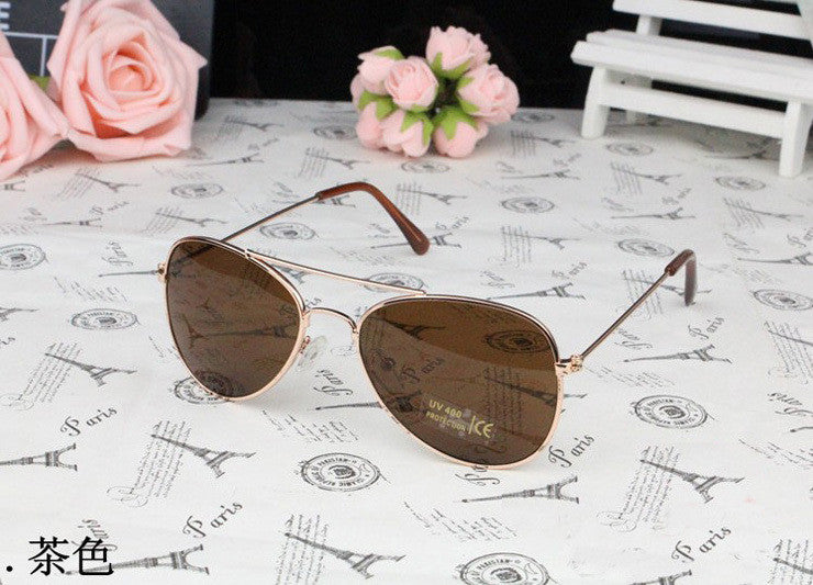 Brown LensUV400 Fashion Kids Polarized Sunglasses Designer, 5 Colorful Lens Kids Sunglasses Designer for Kids Accessories
