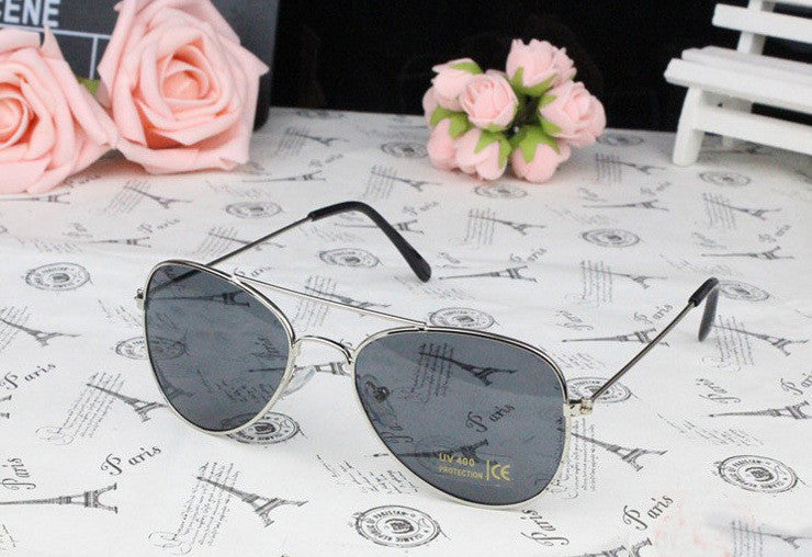 Silver FrameUV400 Fashion Kids Polarized Sunglasses Designer, 5 Colorful Lens Kids Sunglasses Designer for Kids Accessories