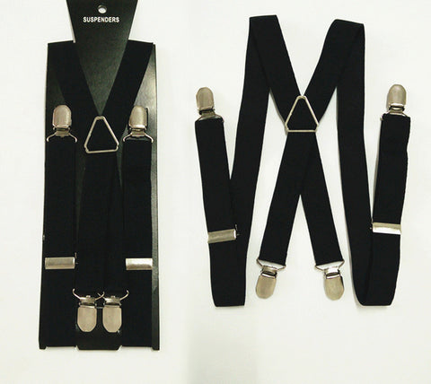 Fashion 4 clips Men Suspenders 4 sizes for boys and girls men and women X-back suspenders - CelebritystyleFashion.com.au online clothing shop australia