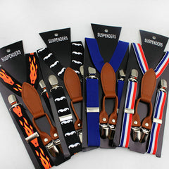 New Fashion high quality Children Adjustable 4 Clip-on Y-back Suspenders Kids girl boy braces - CelebritystyleFashion.com.au online clothing shop australia