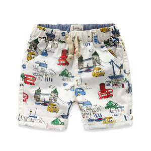 Brand Cartoon Boys Shorts 100% Cotton Printed Car Summer Shorts For Boys 2-8 Years Kids Beach Shorts Children Fashion Clothes - CelebritystyleFashion.com.au online clothing shop australia
