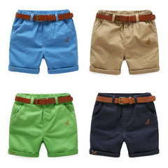 boy child half length pants shorts belt New Kids Summer pants baby solid casual pants - CelebritystyleFashion.com.au online clothing shop australia